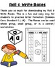 Letter Formation Practice - Roll & Write Races