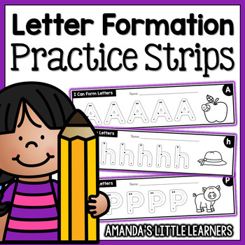 Letter Formation Practice Strips - No Prep