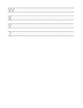 """Letter Formation Practice - Upper Case - 36 pt. (1/2"""")"""