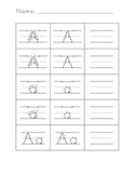 Letter Formation Practice Worksheets for Preschool & Kindergarten FREEBIE