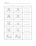 Letter Formation Practice Worksheets for Preschool & Kindergarten FREEBIE