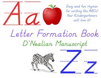 Abc poem teaching resources teachers pay teachers letter formation rhyme book dnealian abc poems spiritdancerdesigns Images
