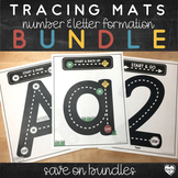 Letter and Number Formation Tracing Mats : Test Drive Bundle