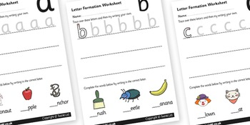 Letter Formation Worksheets
