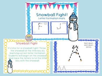 Thanksgiving, Christmas, and Winter Letter Formation Workstation BUNDLE