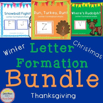 Thanksgiving, Christmas, and Winter Letter Formation Works