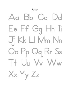 Letter Formation and Alphabet Practice Free Sample