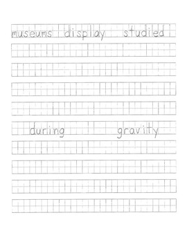 Letter Formation and Word Study Sheet