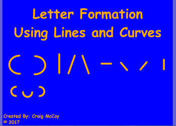 Letter Formation using Lines and Curves ActivInspire Flipchart
