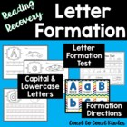 Handwriting: Letter Formation with Reading Recovery directions.