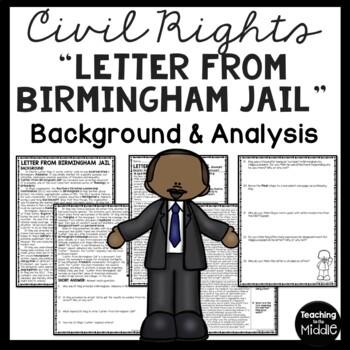 Letter From Birmingham Jail Analysis Worksheet, Martin Lut