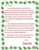 Letter From Santa (EDITABLE)