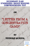 Letter From a Concentration Camp by Y. Uchida MC Reading Comprehension Quiz/Test