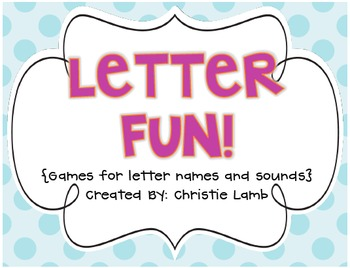 Letter Fun! {Games for teaching & reviewing letter names and sounds}