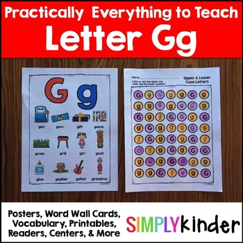 Letter G | Alphabet Printables and Centers