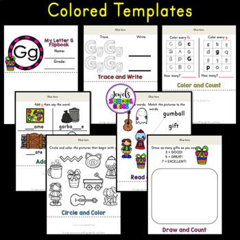 Letter G Alphabet Flip Book (Alphabet Interactive Notebook Activities)