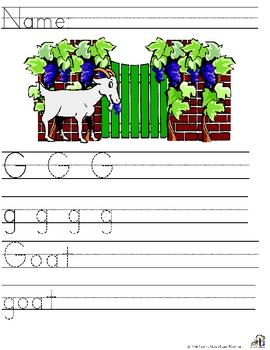 Letter G Alliteration Set