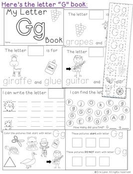 Letter G: Alphabet Activity Book