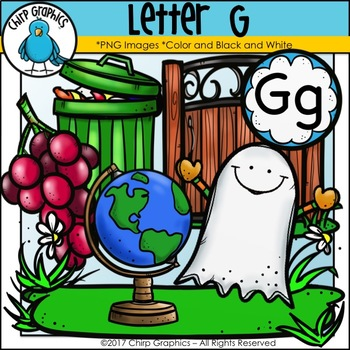 Letter G Alphabet Clip Art Set - Chirp Graphics