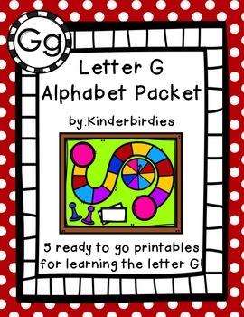 Letter G Alphabet Packet