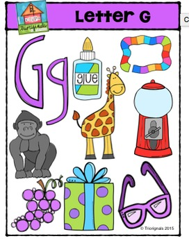 Letter G Alphabet Pictures {P4 Clips Trioriginals Digital Clip Art}