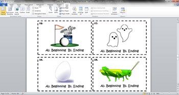 Letter G - Beginning or Ending Hard Sound - Task Cards