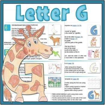 Letter G Bundle: 1 Week Of Complete Curriculum Lessons