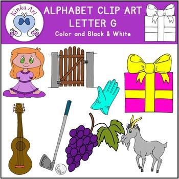 Letter G Clip Art {Beginning Sounds} Alphabet