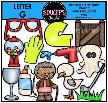 Letter G Clip Art Bundle {Educlips Clipart}