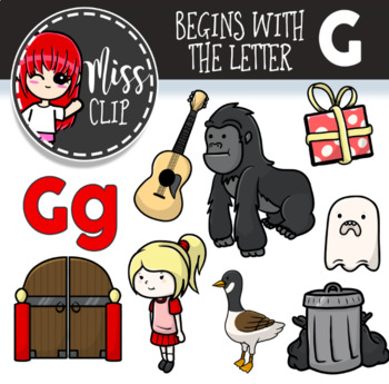 Letter G Clip Art Bundle {Miss Clip} Alphabet Commercial Use