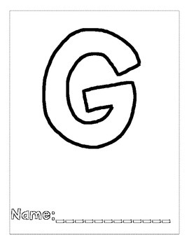 Letter G Color and Trace AlphaBook