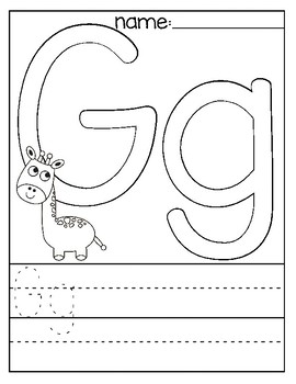 Letter G Coloring Page