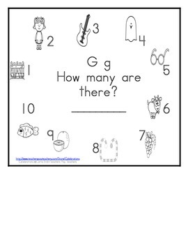 Letter G Counting Books