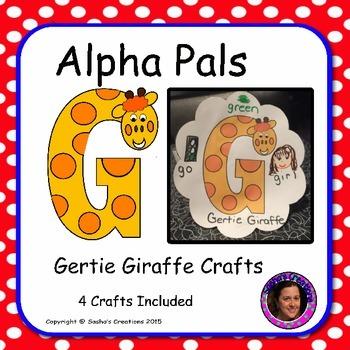 Letter G Craft: Gertie Giraffe Alpha Pal