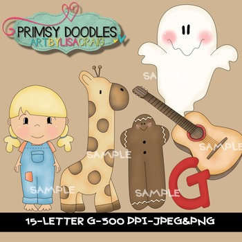 Letter G Early Learning Clipart