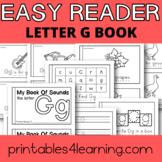 Letter G Emergent Reader Coloring Book