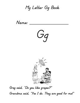 Letter G Emergent Reader - D'nealian