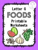 Letter G Foods Printable Worksheets