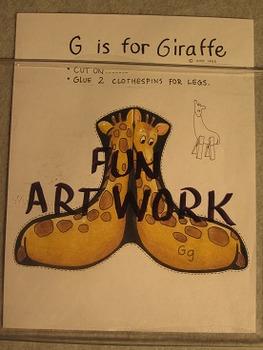 Letter G Fun Alphabet Project