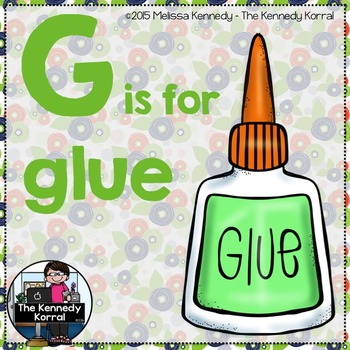 Letter G is for Glue