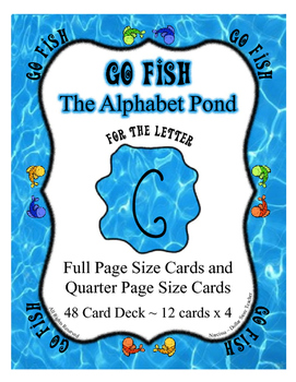Letter G Go Fish Card Game ~ Focused Reading by the Letter