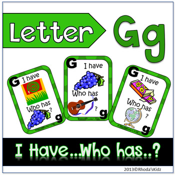 "Letter G  ""I have... Who has?"""