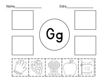 Letter G Initial Sound Sort