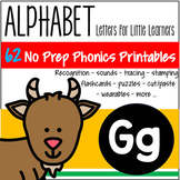 Alphabet G Letter of the Week Phonics Recognition, Sound, Tracing & Craftivities