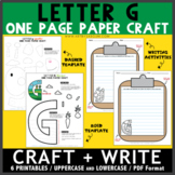 Letter G One Page Paper Crafts - Garden and Giraffe
