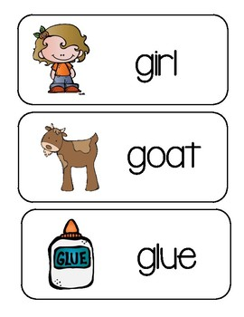 Letter G ~ Picture Word Cards