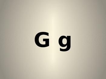 Letter G PowerPoint