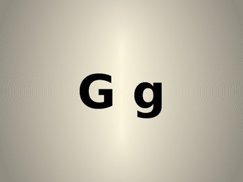 Letter G PowerPoint