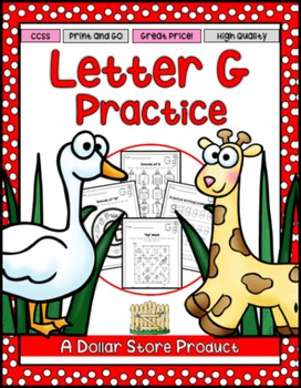 Letter G Practice Printables