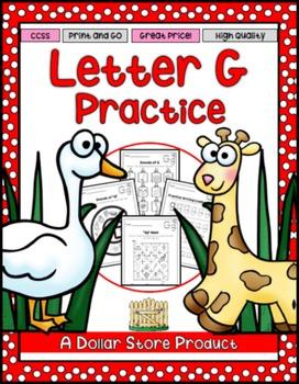Letter G Practice Printables